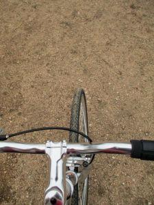 Handlebars & bike tire