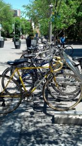 Bike rack at Ryerson University, Toronto
