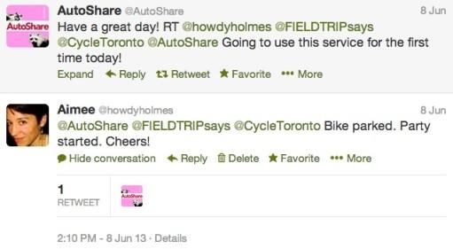 Bike Valet Tweet
