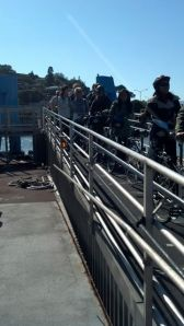 Ferry with bikes, San Fran