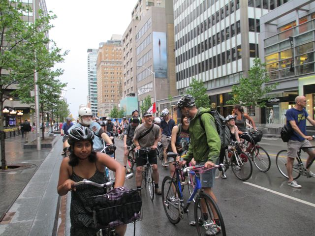 Critical Mass ride on Bloor St.