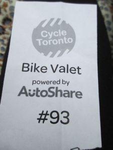 Bike Valet Ticket