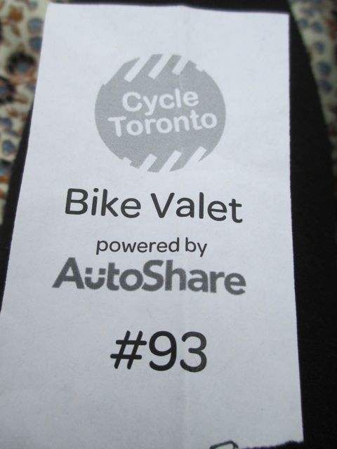 Bike Valet Ticket