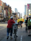 Councillor Mihevic heads down Yonge Street