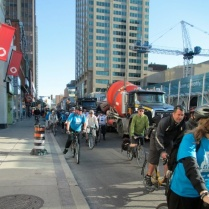 Cyclists on Yonge Street