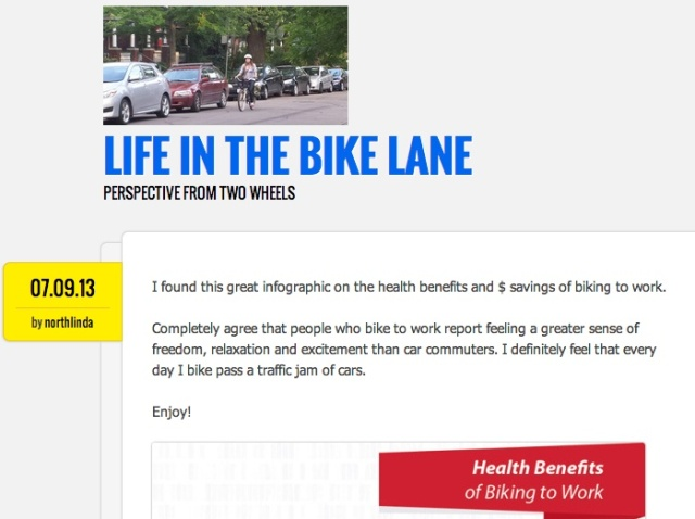 Life in the Bike Lane post