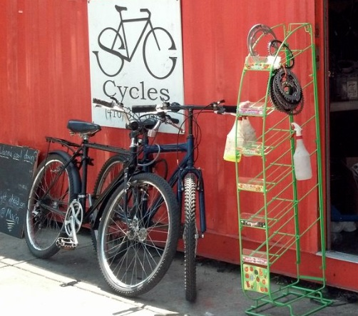 S&C Cycles sign