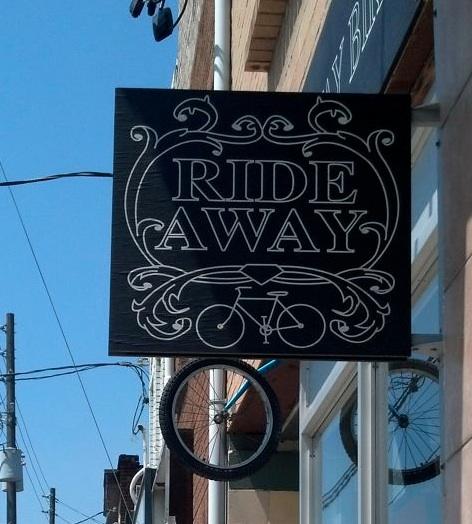 Bike shop's sign