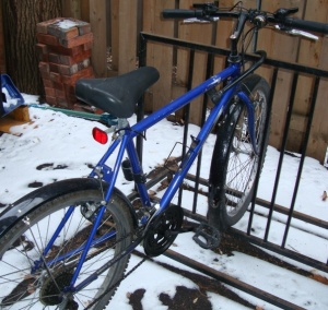 A bike in winter